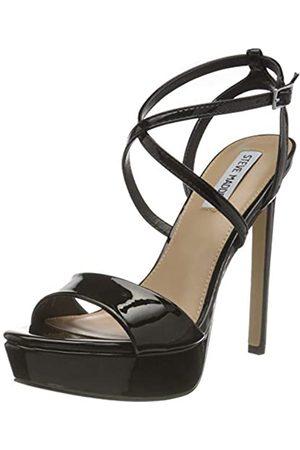 Steve Madden Damen STUNNING BLACK PATENT Sandale mit Absatz