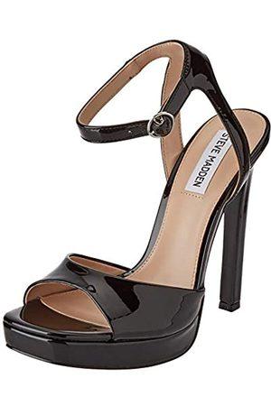 Steve Madden Damen SELFISH BLACK MICROSUEDE Sandale mit Absatz