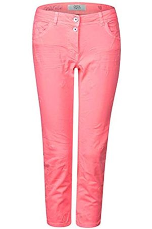 CECIL CECIL Damen 372217 Charlize Slim Jeans per pack Orange (neon apricot 11646)