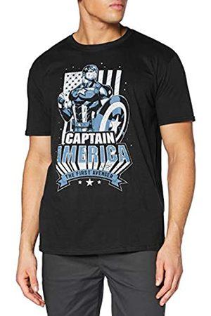 Marvel Marvel Herren The First Avenger Flag T-Shirt
