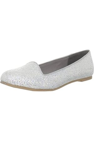 CL by Chinese Laundry Damen Game Face Flat, (Net Glitter/Silver)