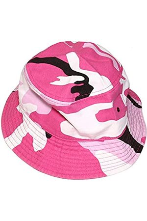 Falari Herren/Damen Unisex Baumwolle Bucket Hat - Pink - L/XL