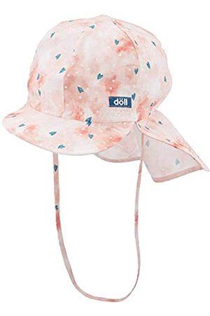 Döll Mädchen Bindemütze mit Schirm und Nackenschutz Mütze