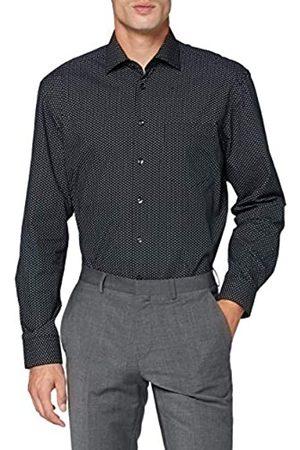 Seidensticker Herren Business Hemd - Bügelleichtes Hemd - Comfort Fit - Langarm - Kent-Kragen - Brusttasche - 100% Baumwolle