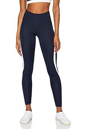 AURIQUE Amazon-Marke: Damen Sportleggings mit hohem Bund, (Marineblau/Weiß)