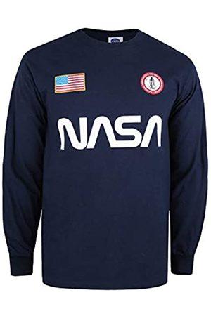 Nasa Nasa Herren Badge Long Sleeve Top T-Shirt