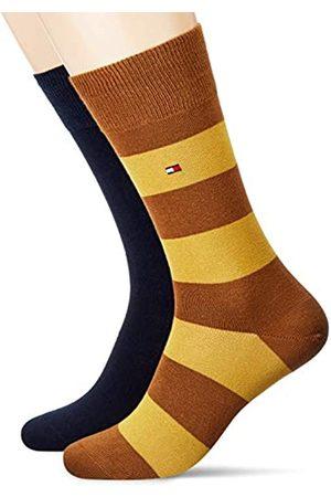 Tommy Hilfiger Mens Rugby Stripe Socken, 2er Pack