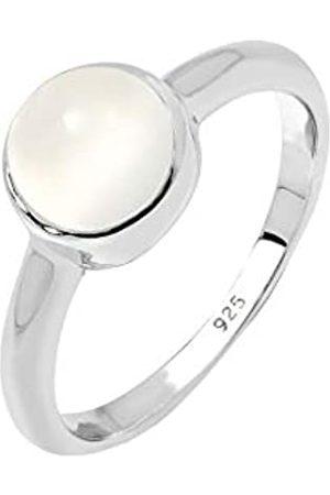 Elli Elli Ring Damen Solitärring mit Mondstein Pastell in 925 Sterling Silber