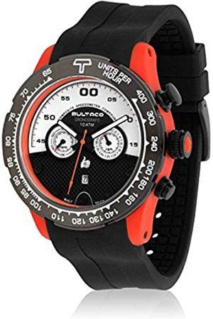 BULTACO Herren Chronograph Quarz Uhr mit Kautschuk Armband H1PO48C-SW1_Negro