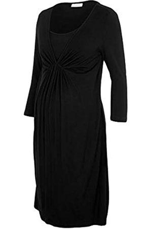 Mama Licious Damen MLADDIE Nell 3/4 Jersey ABK Dress 2F Kleid, Black