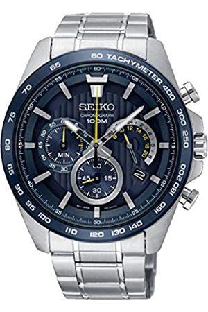 Seiko Chronograph Herren-Uhr Edelstahl mit Metallband SSB301P1