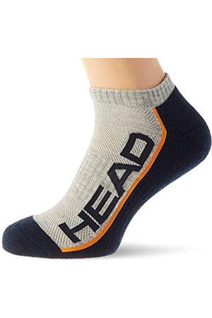 Head Unisex-adult Performance Sneaker – Trainer (2 pack) Tennis Socks, grey/navy