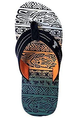 REDVOLUTION Bali Flip-Flop für Kinder, tropisches Muster, Strandsandalen, ( / )