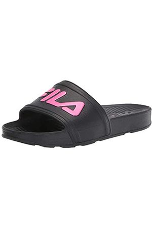 Fila Unisex Sleek Slide Sandal Black Knockout Pink