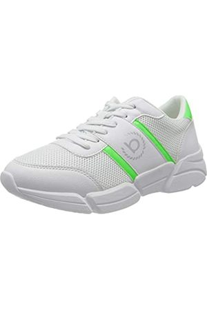 Bugatti Damen 435853025069 Sneaker, White/Green