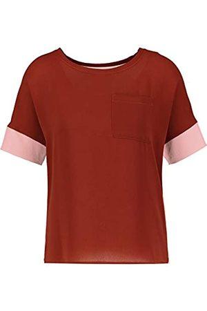 Gerry Weber Damen Shirt mit Kontrastdetails leger Cream/Sienna/Mellow Rose 38
