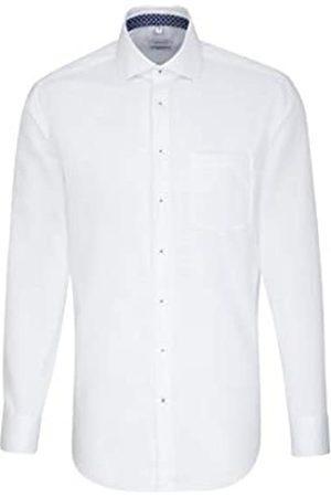 Seidensticker Herren Business - Herren Strukturiertes Hemd mit hohem Tragekomfort und Kent-Kragen – Passform Regular Fit – Langarm – 100% Baumwolle Businesshemd