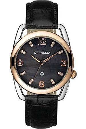 ORPHELIA Damen-Armbanduhr Classic Glam Analog Quarz Leder