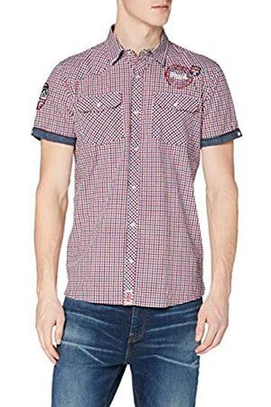 Lonsdale London Lonsdale Herren Langarmshirt Hemd REIGATE mehrfarbig (navy/Rot/Weiß) Medium