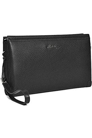 Balidiya Herren-Clutch-Tasche aus echtem Leder, große Kapazität, Visitenkarten-Organizer, Geldbörse