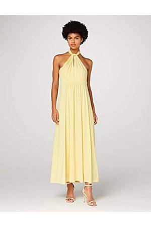 TRUTH & FABLE Amazon-Marke: Damen Maxi A-Linien-Kleid, (hellgelb), 46