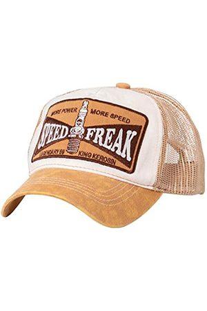 King kerosin Herren Trucker Cap Used Optik Speed Freak Stickerei Vintage Casualmode Speed Freak