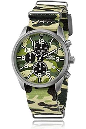 BOBROFF Bobroff Herren Chronograph Quarz Uhr mit Nylon Armband BF0020
