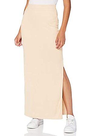 MERAKI Amazon-Marke: Damen Slim Fit Maxi-Rock mit Feinripp, Pink (hellpink), 44