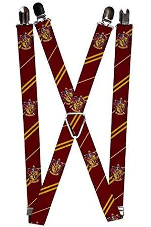 Buckle-Down Herren Suspenders - Gryffindor Crest/stripe2 Burgundy/gold Strumpfhalter