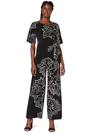 TRUTH & FABLE Damen Jumpsuits - Amazon-Marke: Damen Kurzärmeliger Abend-Jumpsuit aus Jersey, Mehrfarbig ( / ), 40