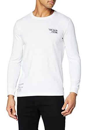 TOM TAILOR TOM TAILOR Denim Herren Langarm Print T-Shirt, 20000-White