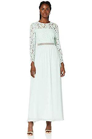 TRUTH & FABLE Damen Lange Kleider - Amazon-Marke: Damen Maxi A-Linien-Kleid aus Spitze, 38