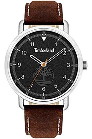Timberland Herren Uhren - Herren Analog Quarz Uhr mit Leder-Kalbsleder Armband TBL15939JS.02AS