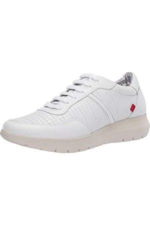 Marc Joseph New York Damen Leather Luxury Fashion Sneaker Wedge Turnschuh, Weiße Nappa Soft/Krokodil