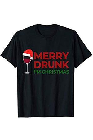 Wein Weihnachtsshirt Weihnachtsoutfit Weihnachten I'm Merry Drunk Ugly Christmas Sweater Weihnachtspullover Im T-Shirt