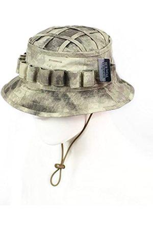 ZAPT Boonie Hut Military Camo Cap Hunter Sniper Ghillie Bucket Hüte Verstellbare Dschungel Buschhut - Braun - Einheitsgröße
