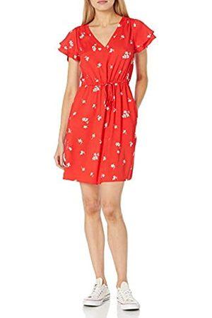 Goodthreads Damen Freizeitkleider - Georgette Minikleid mit Rüschenärmeln Kleid