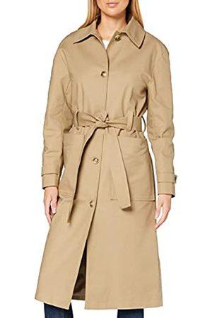 FIND Damen Trenchcoat mit Gürtel, 44