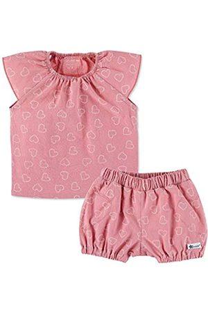 Sterntaler Mädchen Set mit Bluse und kurzer Hose, Mit elastischem Hüftbund und Herz-Muster, Alter: 4-5 Monate