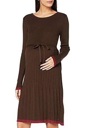 Esprit Damen Freizeitkleider - Damen Dress Knit ls Kleid, Coffee-201