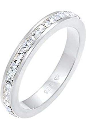 Elli Elli PREMIUM Ring Bandring Geo Shape Swarovski Kristalle in 925 Sterling