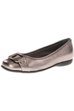 FrenchTrotters Women's Sizzle Signature Ballet Flat,Metallic Pewter