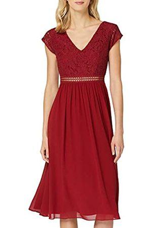 TRUTH & FABLE Damen Midi Chiffon-Kleid mit A-Linie, 38