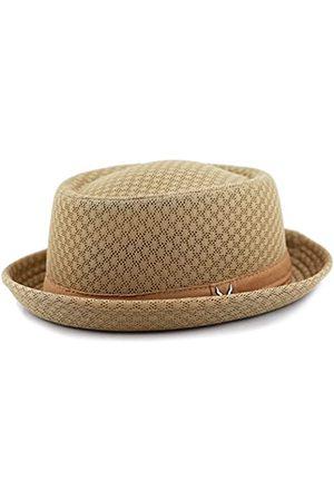The Hat Depot Unisex Pork Pie Hut mit weichem Netzstoff - Beige - L/XL