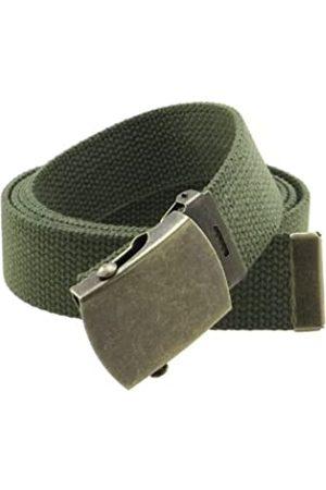 BC Belts Herren Gürtel - Gürtel aus Segeltuch im Militär-Stil, mit Schnalle aus antikem Messing und Spitze