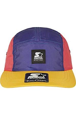 STARTER BLACK LABEL Unisex Jockey Cap mit gewebten Logo Stick, größenverstelbar, dreifarbige Baseball Cap, Schirmunterseite Gelb
