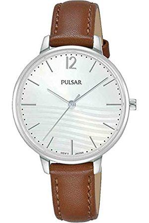 Pulsar PULSAR Damen Analog Quarz Uhr mit Echtes Leder Armband PH8487X1