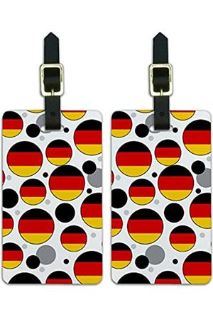 Graphics and More Graphics & More C-i-Germany Nationalflagge (Weiß) - Luggage.Tags.09583
