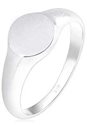 Elli Elli Ring Damen Siegelring Royal Matt Geo Basic Trend in 925 Sterling