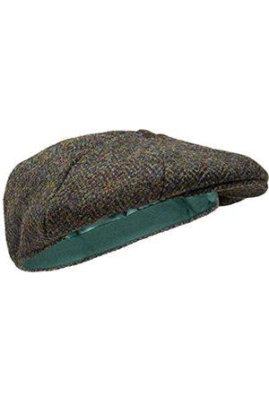 Borges & Scott Dingwall Schirmmütze 8-TLG. – Schiebermütze Herren aus 100% handgewebter Wolle Harris Tweed - Wasserabweisend - 60cm